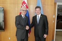 Miroslav Lajčak president of 72 UN General Assembly Session treating Webpublicapress UN editor - photo by Luiz Rampelotto)