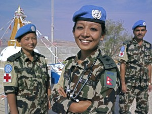 Captain Dr. Barsha Bajracharya with two of her team mates at UN Post 8-30, near the town of Shakra, South Lebanon. Photo Credit: UNIFIL Pasqual Gorriz