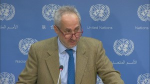 Stephane Dujarric, spokesman for United Nations Secretary-General Antonio Guterres (Credit UN audio visual library)