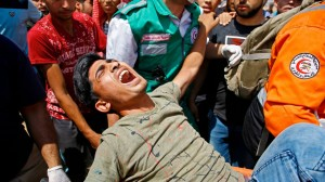 More then 60 Palestinians were killed by Israeli forces on May 15 unrest after US Embassy was moved from Tel Aviv to Jerusalem a day before (Photo for education only democracy.com)