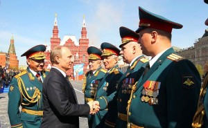 Putin wit the Russian generals (Photo by kremlin.ru for education only)
