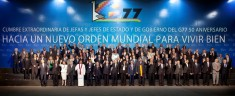 """United Nation's Group of 77, joined by China, met in Bolivia (2014) to discuss sustainability, the war on poverty, and """"equal"""" development (Courtesy photo for education only)"""