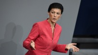 Sahra Wagenknecht, 48, on 03. September  2018, launched the grassroots left movement which borrows from the campaigns of British Labour's Jeremy Corbyn, French Socialist Jean-Luc Melenchon and US Democrat Bernie Sanders (Courtesy public domain photo for education only).