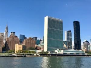 UN Building with New York sky 30 September 2018 photo by Erol Avdovic (WebpublicaPress)