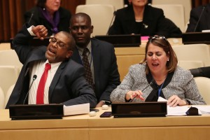 Cuban diplomats protest US Ambassador speech at the UN on September 16th 2018 (Courtesy photo Digital Journal for education only)