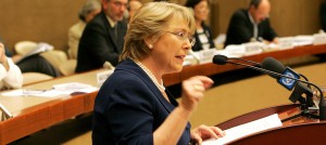 Michelle Bechelet UN Commissioner for Human Rights (Courtesy photo by IRCT  for education only)