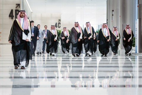 To Royals of Saudis with Crown Prince Mohammed bin Salman in center (Courtesy photo for education only)