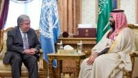 UN Secretary General Antonio Guterres and Saudi Crown Prince Mohammad Bin Salman in Riyadh 2017 (UN Photo by Mohammed Al Deghaishim)