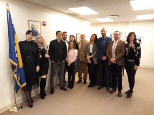 "Participants of ""reGeneracija"" at UN BiH Mission in New York (Photo by Asja Kratovic)"