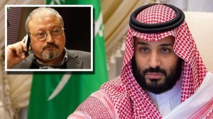 Jamal-Khashoggi (left in the frame) and Saudi Crown-Prince Bin Salman (Courtesy photo for education only)