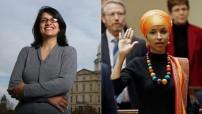 FILE: Rashida Tlaib (left) and iIlhan Omar firs women in US Congress 2018