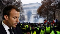 """Emmanuel Macron accepts some responsibility after French protests """"Yellow Vests"""" (December 2018 photo montage for education only)"""