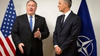 Mike Pompeo and Jens Stoltenberg - US and NATO Alliance (Courtesy photo for education only)