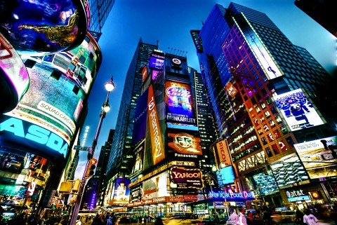 Times Square New York City - place to be every New Year's Eve (Courtesy photo for education only)