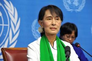 Aung San Suu Kyi in Geneva 2012 (UN Photo Violaine Martin)