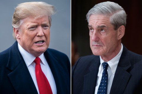 President Donald Trump and Special Investigator Robert Mueller (Courtesy photo montage for education only)