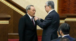 Takayev and president Nursultan Nazarbaev (Courtesy photo for education only)