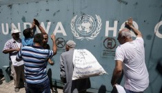 UNRWA aid distribution to Palestinians (Courtesy photo for education only)