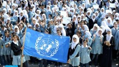 Palestinian children in support for UN (UNRWA) Photo file WPP