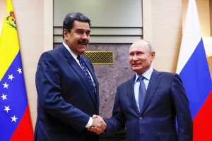 Russian President Putin meets with his Venezuelan counterpart Maduro in Moscow (Courtesy photo - abril.com - for education only)
