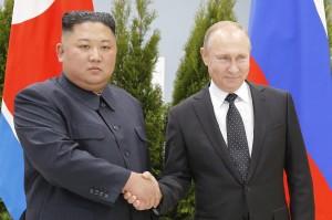 Vladimir Putin and Kim Jong-Un in Vladivostok April 2019 (courtesy photo web.de for education only)
