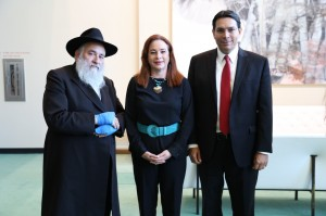 Rabbi Goldstein with President of UN General Assembly Maria Fernanda Espinoza and Dany Danon ambassador of Israel to the UN (Photo credit by Israel Mission to the UN)