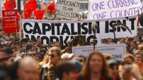 Socialists protest in Europe (For education photo only)