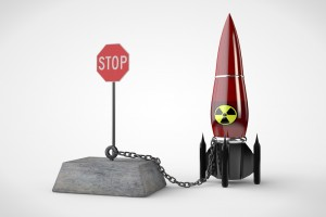 Stop nuclear bombs - file photo illustration for education only