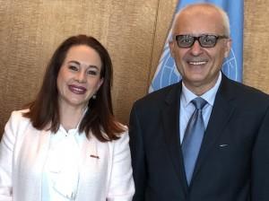 Maria Espinoza Fernanda s našim urednikom (Webpublicapress photo)