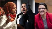 US Congresswomen Ilhan Omar (left), Alexandra Ocasio Cortez (center) and Rashida Tlaib (right) - courtesy photo montage - for education only