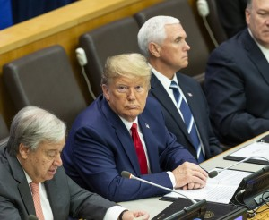 New York, NY - September 23, 2019: Antonio Guterres and Donald Trump attend UN global call to protect religious freedom meeting at UN Headquarters. Photo: Lev Radin/EuropaNewsWire