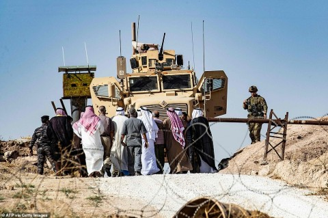 Syrian Kurds demonstration against Turkish offensive, October 2019 (Daily.uk courtesy photo for education only)