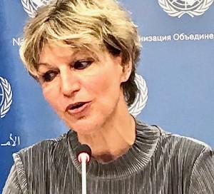 Agnes Callamard Special-Rapporteur on extrajudicial arbitrary executions (Photo by Erol Avdović, Webpublicapress UN 2019)