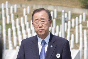 Ban Ki-moon (former UN Secretary General) in Srebrenica - Potočari Memorial 2015 (Credit UN photo)