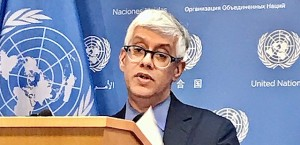 UN Deputy spokesperson Farhan Haq at daily press briefing at the UN HQ on 24 January 2020 (Photo by Erol Avdović, Webpublicapress)