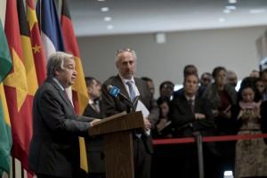 UN Secretary General Antonio Guterres in his first address to the UN Press in 2020 (UN photo by Mark Garten, 06. January 2020)