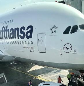 Lufthansa A-380 at JFK New York before flight to Frankfurt September 2019 (Photo by Erol Avdović Webpublicapress)