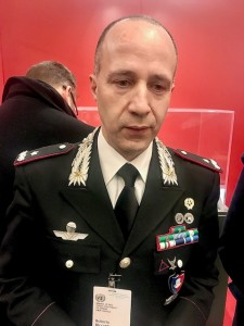 Brigadier-General Roberto Riccardi of Italian Carabinieri after the exhibit (Photo by Erol Avdovic, Webpublicapress, January 2020 UN)