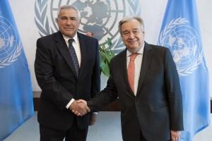 Sven Alkalaj and Antonio Guterres (UN photo credit 2019)