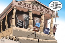 Cartoon Social-Democracy by Faresh (Courtesy for education only)