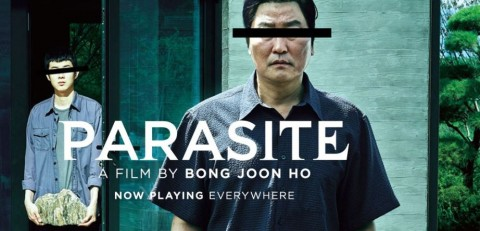 "Official placate for Korean Oscar vining film ""Parasite"" (Public domain photo for education only)"