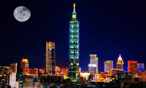 Taipei City at night (Wikipedia.en photo for education only)