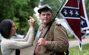 White supremacist confronted in UNS (Courtesy photo for education only)