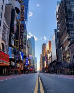 New York City empty - Corona Times April 2020 photo by Dr. Hajat Avdović for WebPublicaPress