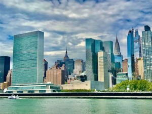 United Nations on East River  - empty until the end of June 2020 (Photo by Erol Avdović, WebPublicaDress -14 May 2020).