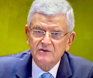 UN General Assembly 75 Session president Volkan Bozkir, Turkish diplomat (Photo by Erol Avdovic from UN TV web UNGA 2020 - free for use for education only).