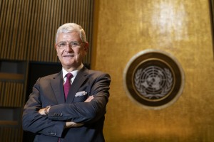 President of the 75th session of the General Assembly Volkan Bozkir, Turkish diplomat and politician (UN photo by Mark Garten 2020)