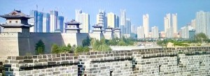Modern China with high buildings and old tradition heritage (TV image - photo by Erol Avdovic - for education only)