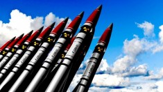 Nuclear rocket heads (Photo illustration by Moscow Times - for education only)