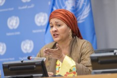 Amina Mohammed 21-September 2020- at the opening on 75th UN General Assembly virtual session (UN-Photo by Rick Bajornas)